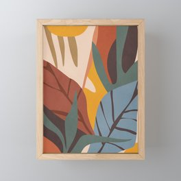 Abstract Art Jungle Framed Mini Art Print