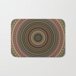 Vintage Bohemian Mandala Textured Design Badematte
