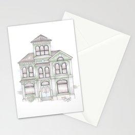 Green Italianate Victorian Stationery Cards