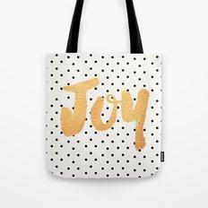 Joy - Polka dots and gold Tote Bag