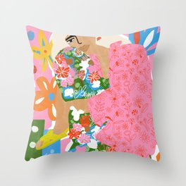Living in Chaos Throw Pillow
