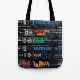 Stephen King Well-Worn Paperbacks Tote Bag