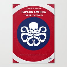 No329 My AMERICA CAPTAIN - 1 minimal movie poster Canvas Print