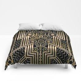 Art Nouveau Metallic design Comforters