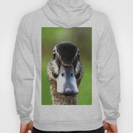 Hello Ducky Quirky Duck Portrait Hoody