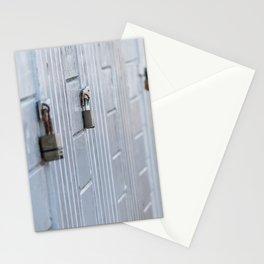 Locked doors Stationery Cards