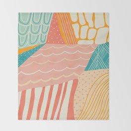 beach quilt Throw Blanket