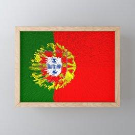 Extruded flag of Portugal Framed Mini Art Print