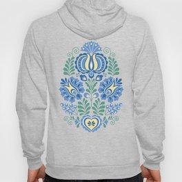 Moravian Folk Design Blue Hoody