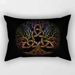 Colorful Tree of life with Triquetra Rectangular Pillow