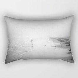 Walking In The Surf Rectangular Pillow