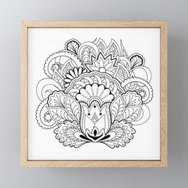black&white zen composition Framed Mini Art Print