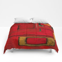 Detached, Abstract Shapes Art Comforters