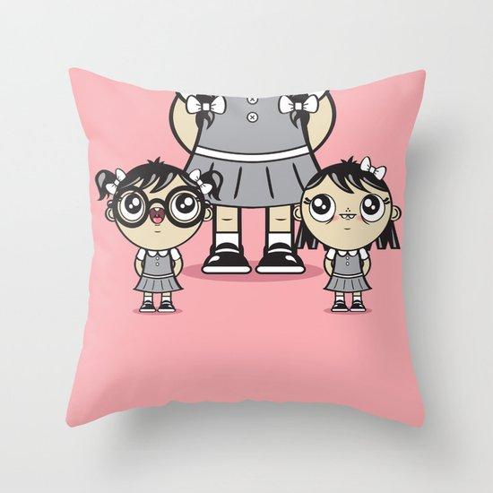 Some Girls Are Bigger Than Others Throw Pillow