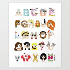 Child of the 00s Alphabet Art Print
