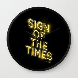 Sign Of The Times Wall Clock