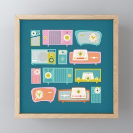 Retro Radios Framed Mini Art Print
