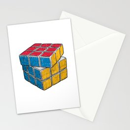 Rubik's Cube drawing Stationery Cards