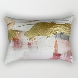 Untranslated Stars: a minimal, abstract piece in gold, pink, and white by Alyssa Hamilton Art Rectangular Pillow
