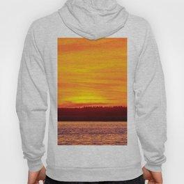 Fiery sunset on the Pike lake Hoody