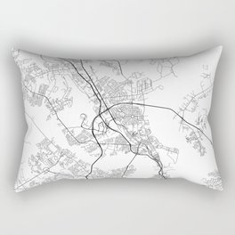 Minimal City Maps - Map Of North Charleston, South Carolina, United States Rectangular Pillow