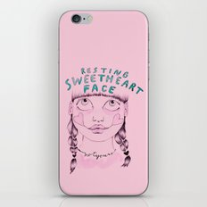 Resting sweetheart face iPhone & iPod Skin