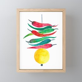 Lemon chilli charm Framed Mini Art Print
