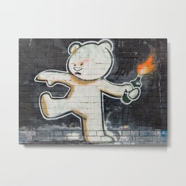 Banksy's Big Bad Bear Metal Print