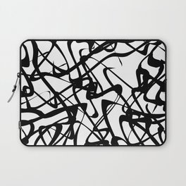 smooth black loops Laptop Sleeve