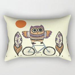 Bicycle Owl Rectangular Pillow