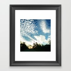 As The Sun Rose, The Clouds Scattered Framed Art Print