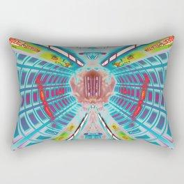 Neon Tunnels Rectangular Pillow