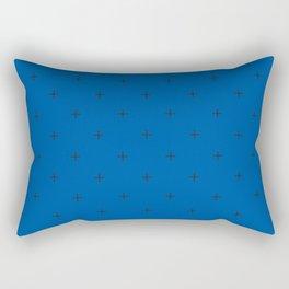 Crosses on Royal Blue Rectangular Pillow