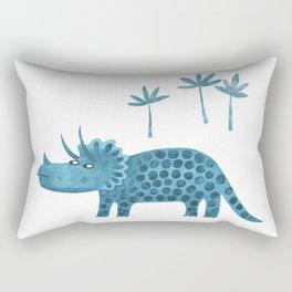 Triceratops Dinosaur Rectangular Pillow