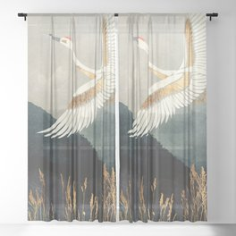 Elegant Flight Sheer Curtain