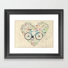 I Love My Bike Framed Art Print