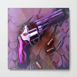 The Wheel Gun Metal Print
