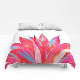 Sunny Agave Fringe Illustration Comforters