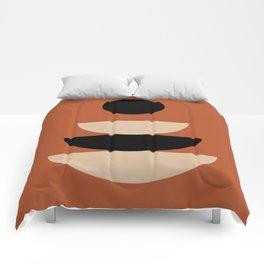 Zen Sitting - Black & Tan Comforters