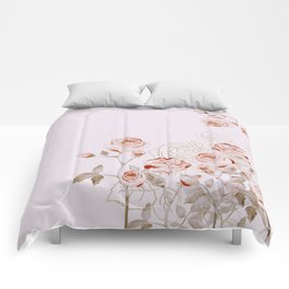FRENCH PALE ROSES Comforters