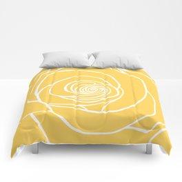 Sunshine Yellow Rose Drawing Comforters