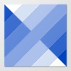 Blue and white angled Gradient Canvas Print
