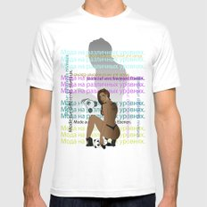 Bear in Hand Mens Fitted Tee MEDIUM White