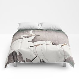 Group of Egrets Comforters