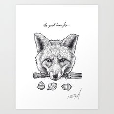 Quick Brown Fox Art Print