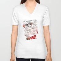 lyrics V-neck T-shirts featuring Big Bang Theory Lyrics by Nxolab