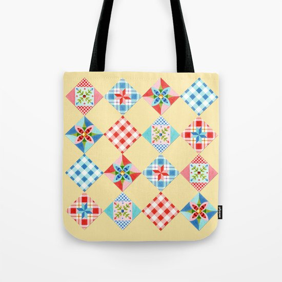 Country Days Patchwork Design Tote Bag