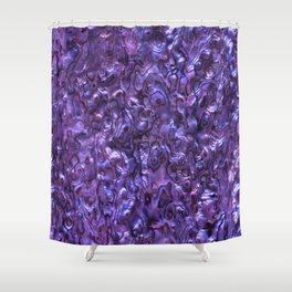 Abalone Shell | Paua Shell | Violet Tint Shower Curtain