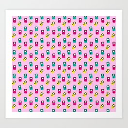 Game boy colors rain Art Print