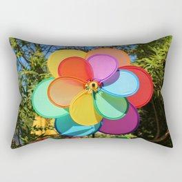 Rainbow Wind Spinner Rectangular Pillow